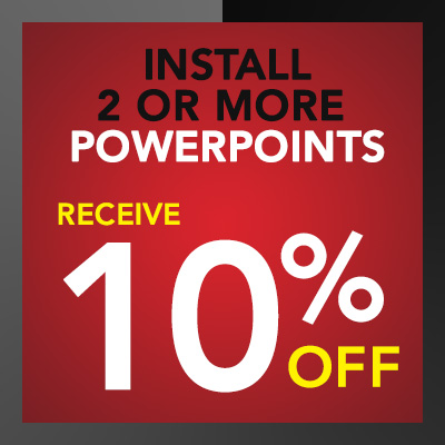 Electrician Discounts and Promotions - 10% off on PowerPoint Installation