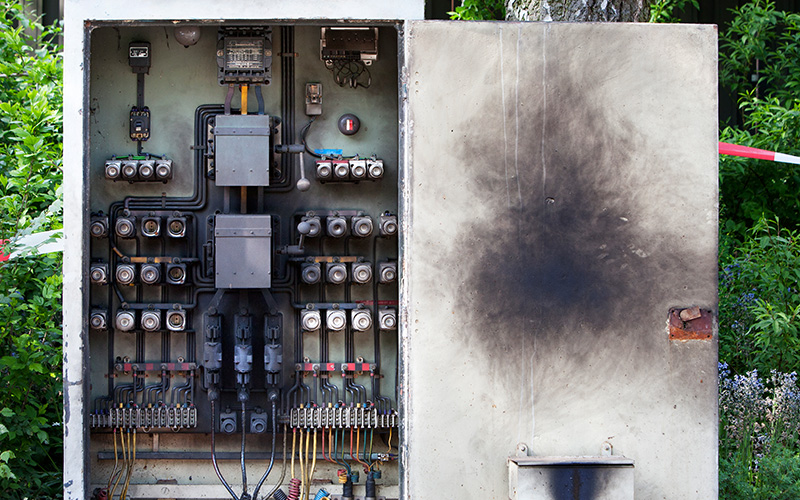 electrical switchboard upgrade because of risk of short circuits